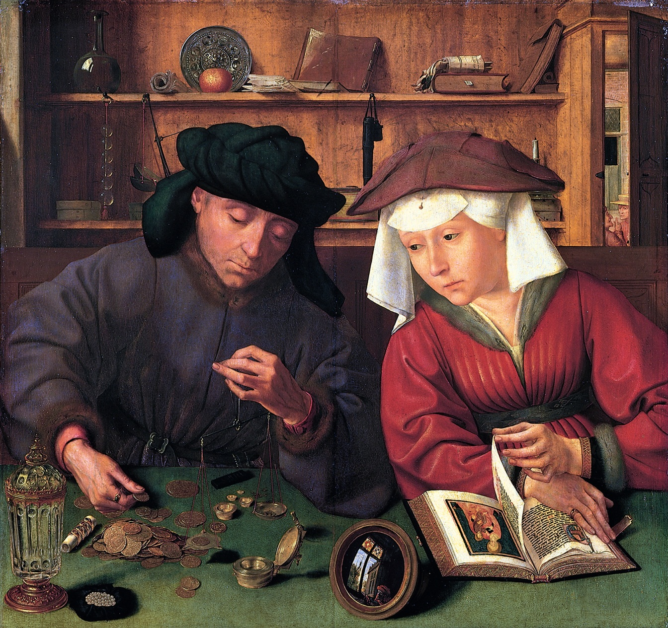 The Money Lender and His Wife (Quentin Metsys, 1514)