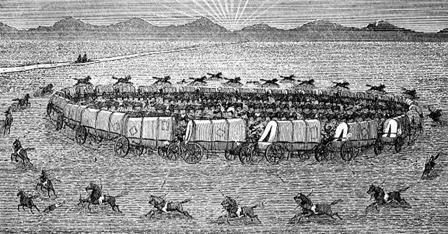 Circling the Wagons (Published in Dangers of the Trail, 1865)