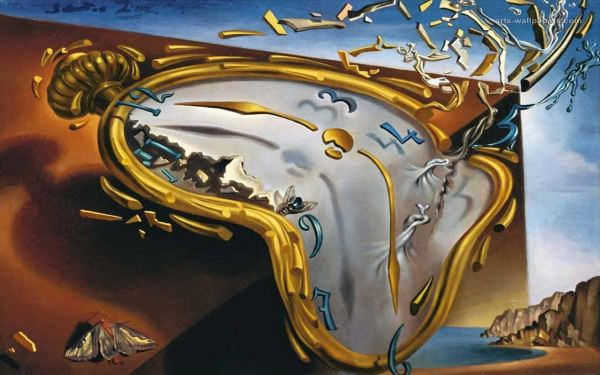 Soft Watch at the Moment of First Explosion by Salvador Dali c. 1954