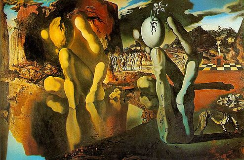 Metamorphosis of Narcissus (Salvador Dali, 1937)