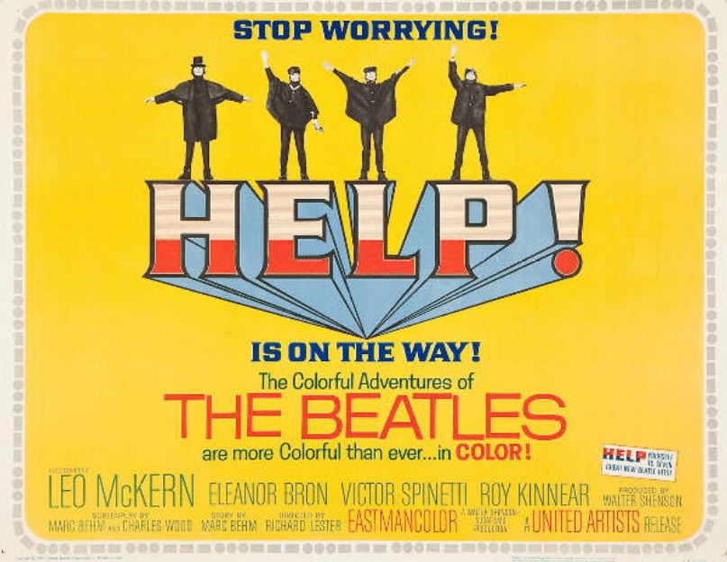 Help! Movie Poster (The Beatles, 1965)