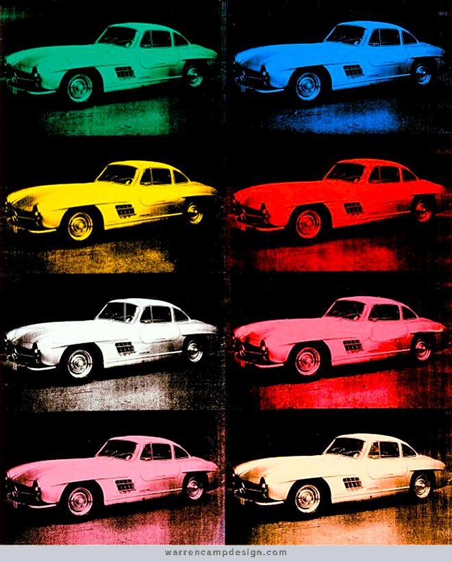 Mercedes-Benz 300 SL Coupé (1954) (Andy Warhol, 1986)