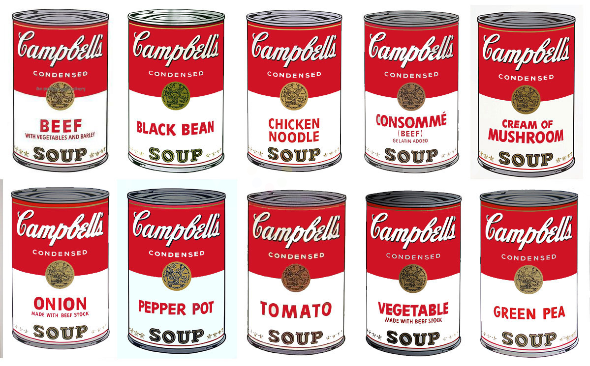 Campbell's Soup I Full Suite (Andy Warhol, 1968)