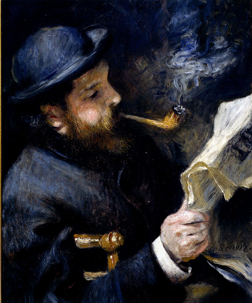Claude Monet Lisant (Pierre-August Renoir, 1872)
