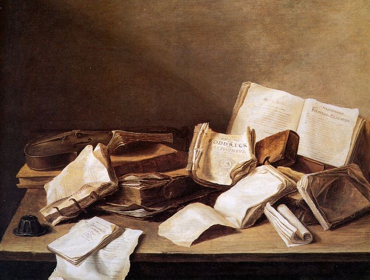 Still Life With Books (Jan Davidsz. de Heem, 1625 - 1630)