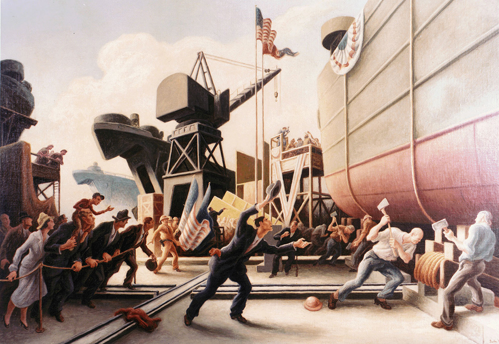 Cut The Line (Thomas Hart Benton, 1944)