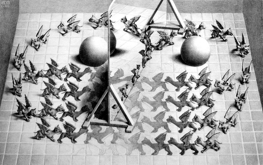 Magic Mirror (M.C. Escher, 1946)