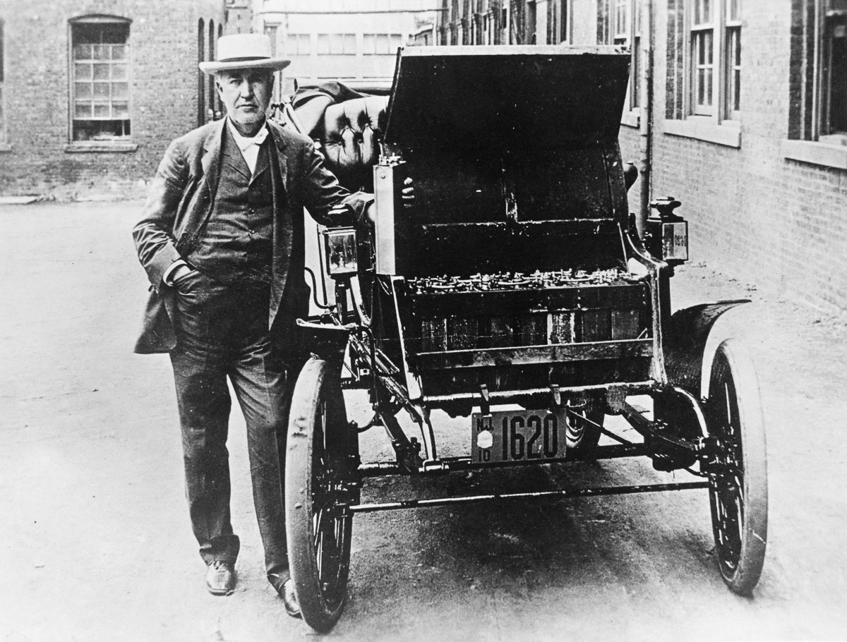 Edison Baker Electric Car c. 1895