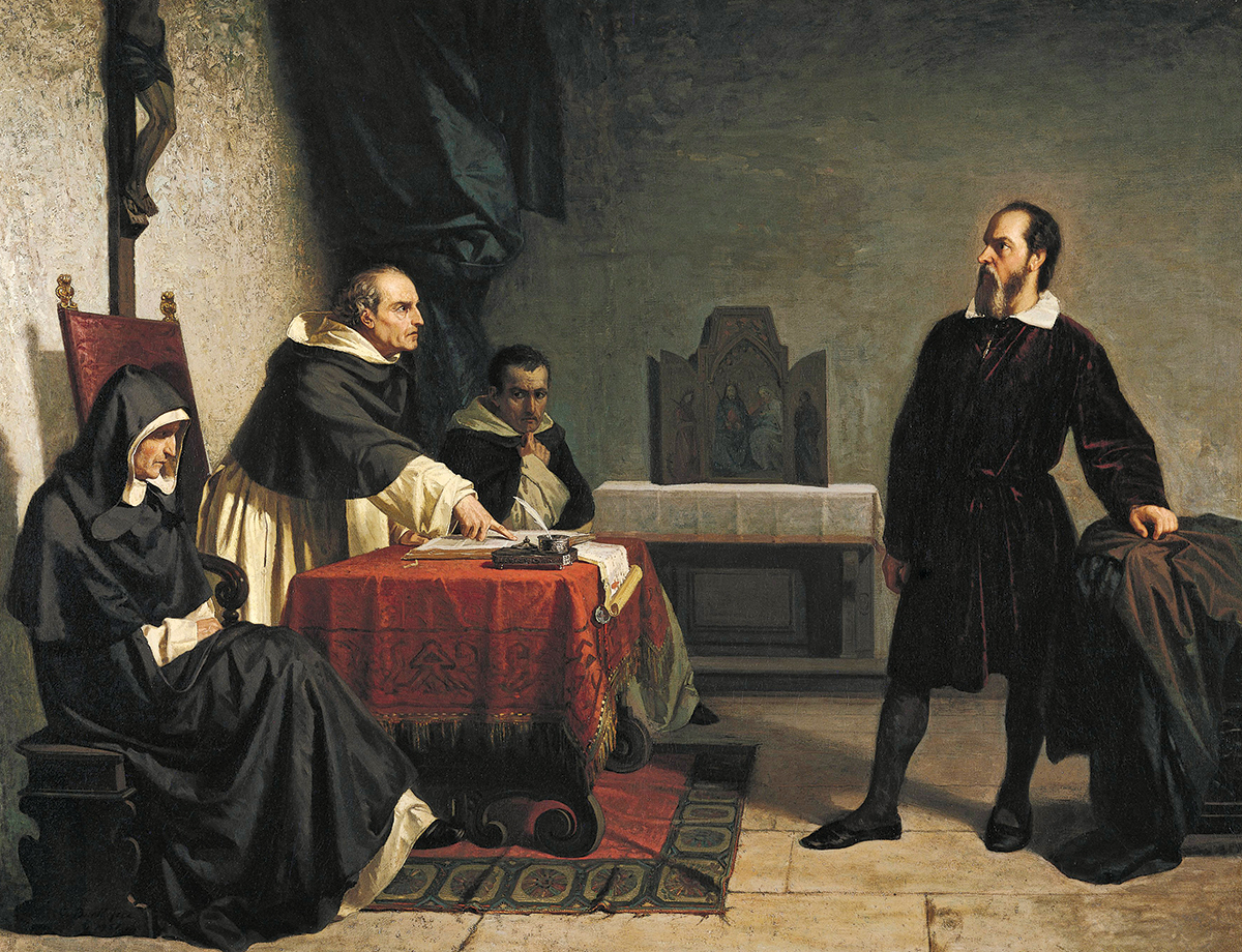 Galileo Facing the Roman Inquisition (Chistiano Banti, 1857)