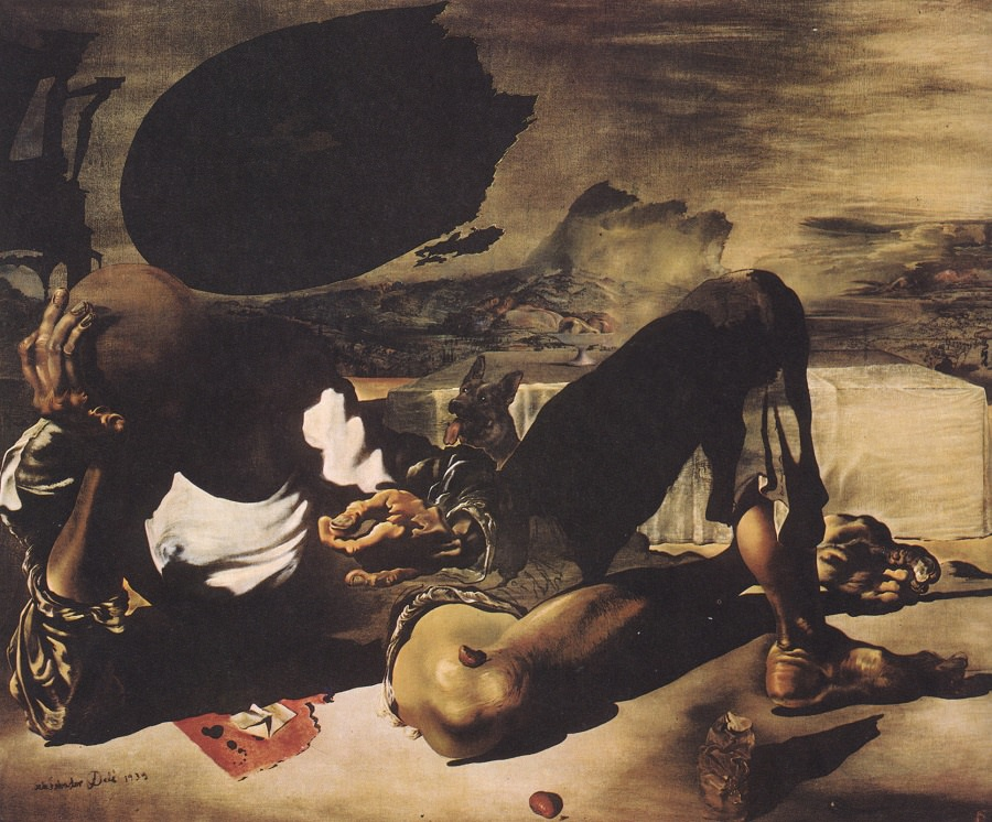 Philosopher Illuminated by the Light of the Moon and the Setting Sun (Dali, 1939)